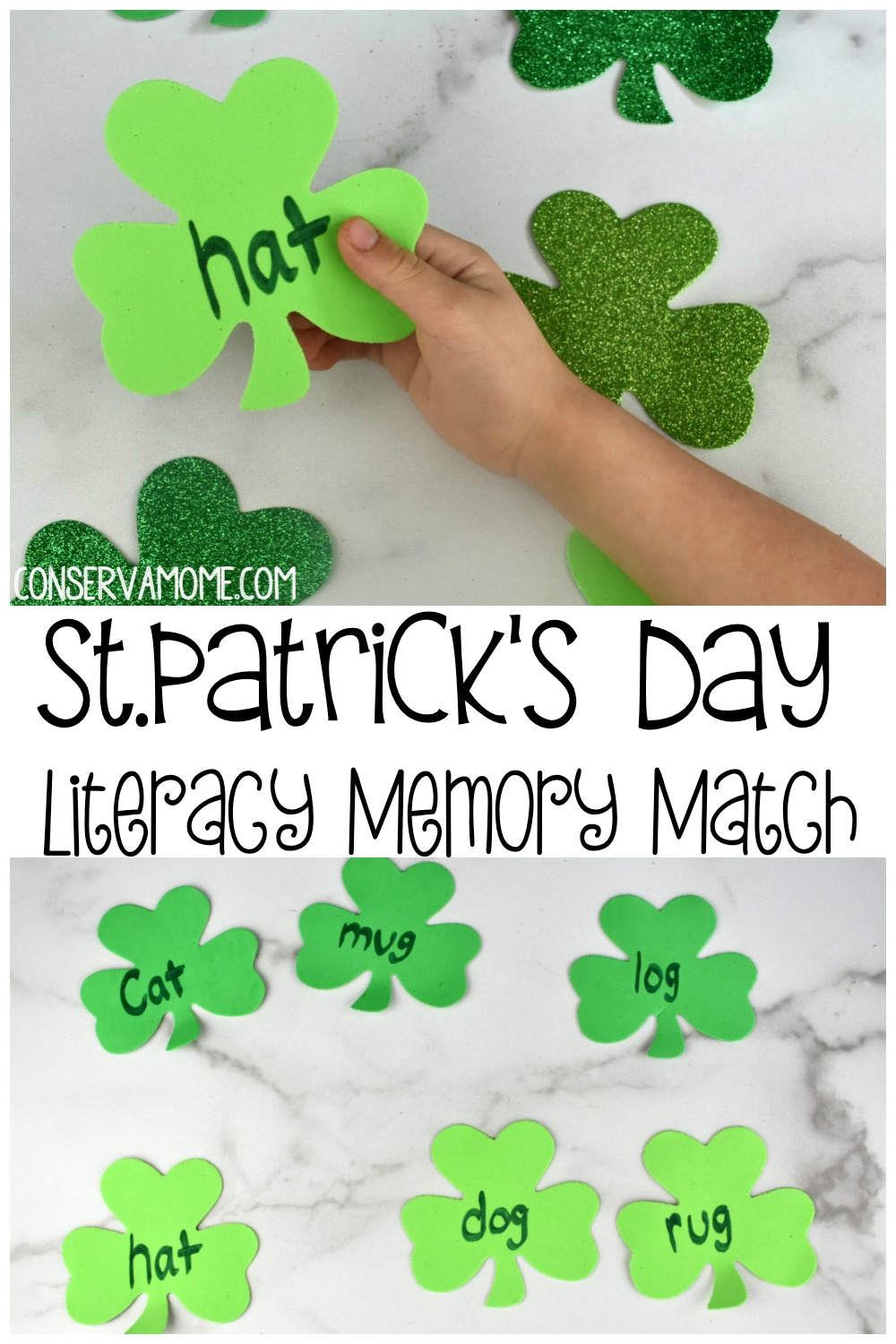 St.Patrick's Day Literacy Memory  Match