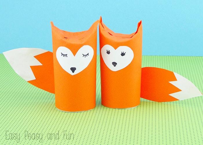 Toilet Paper Roll Fox Craft