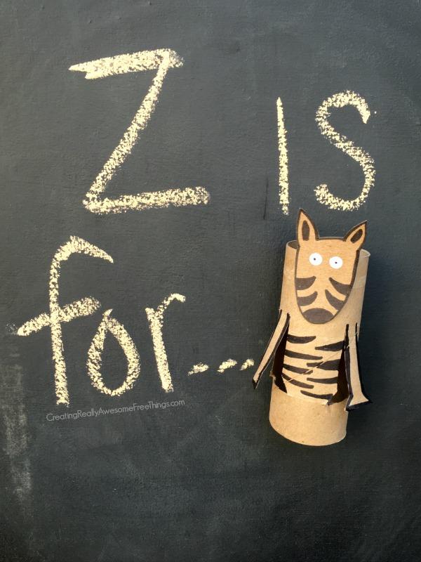 Zebra: Toilet paper tube crafts - C.R.A.F.T.