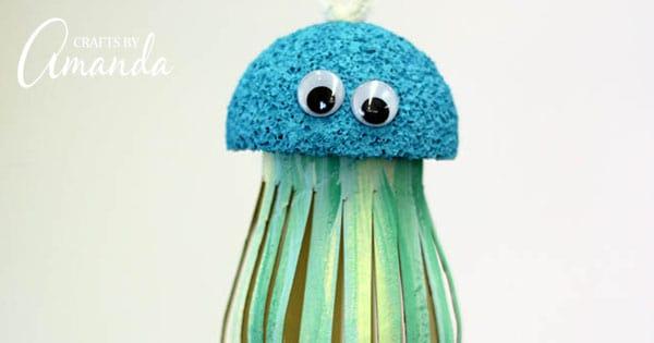 Cardboard Tube Jellyfish Craft