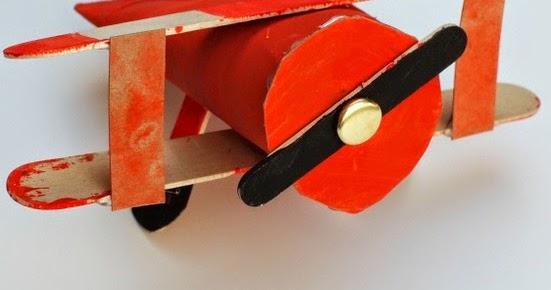 Toilet Roll Biplane Airplanes Craft