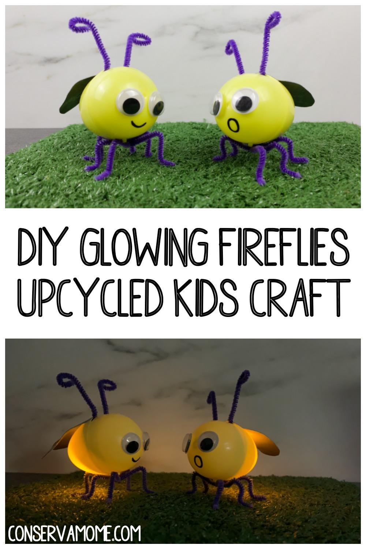 DIY Glowing Fireflies Upcycled Kids Craft