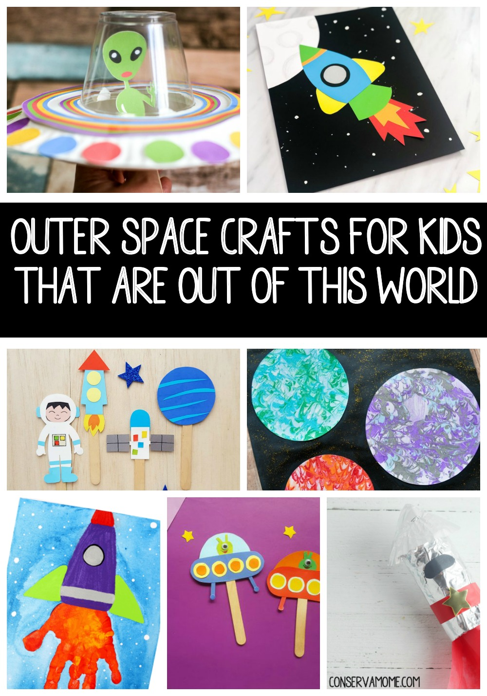 Outer Space Crafts for Kids That are Out of this World