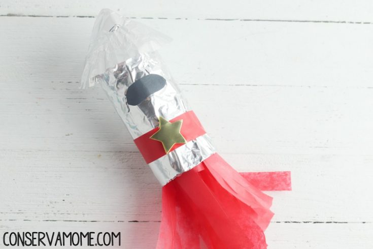 Rocket Ship Toilet Paper Roll Craft