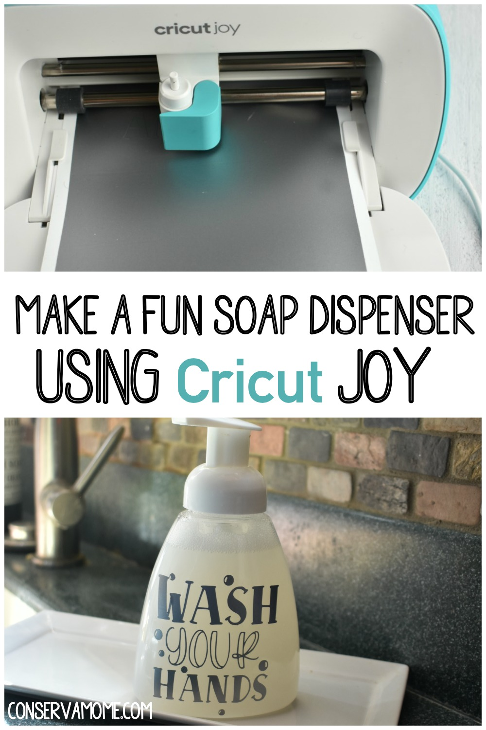 Soap dispenser using cricut joy