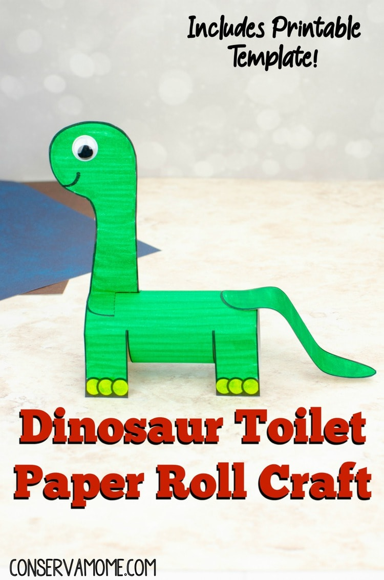 Dino toilet paper roll craft