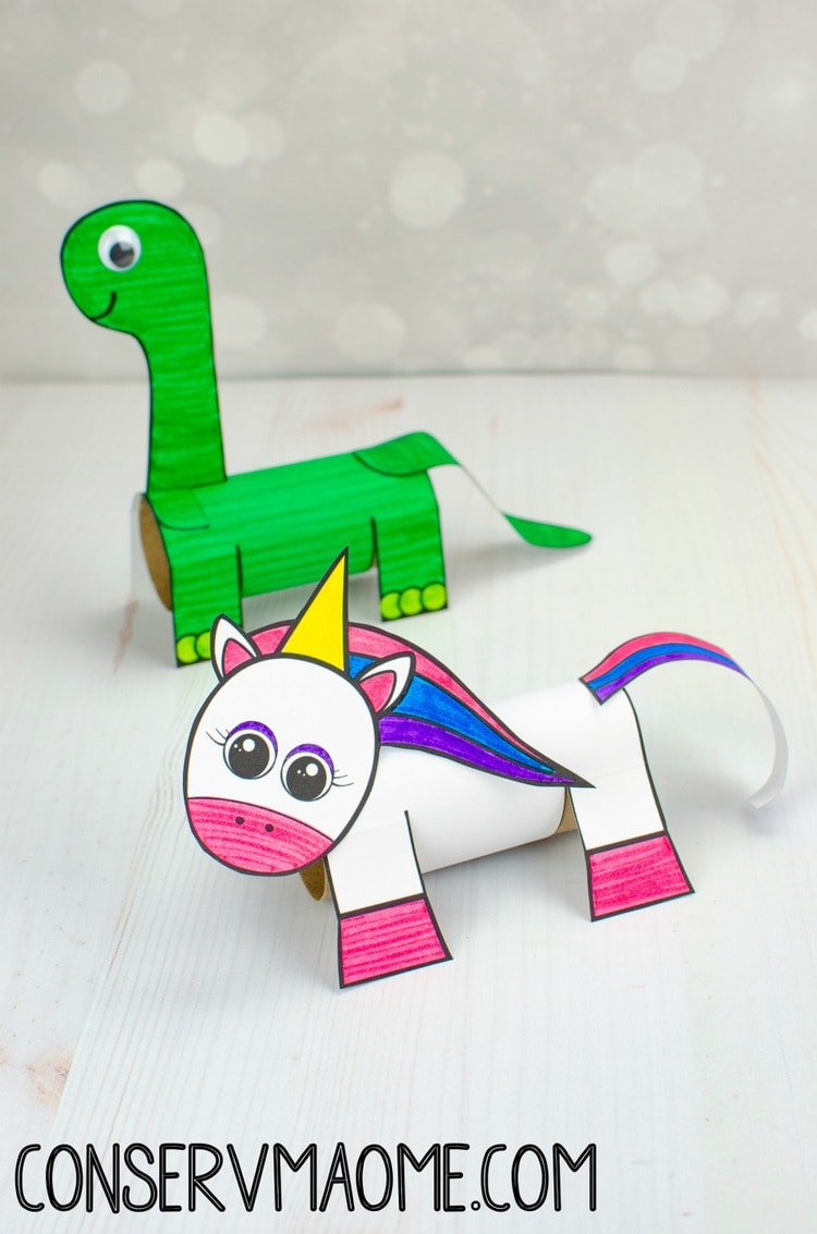 Dinosaur Toilet paper roll craft