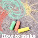 Homemade Sidewalk Chalk re