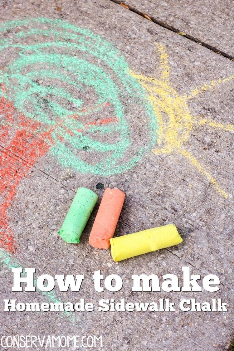 How to make Homemade Sidewalk Chalk DIY Sidewalk chalk