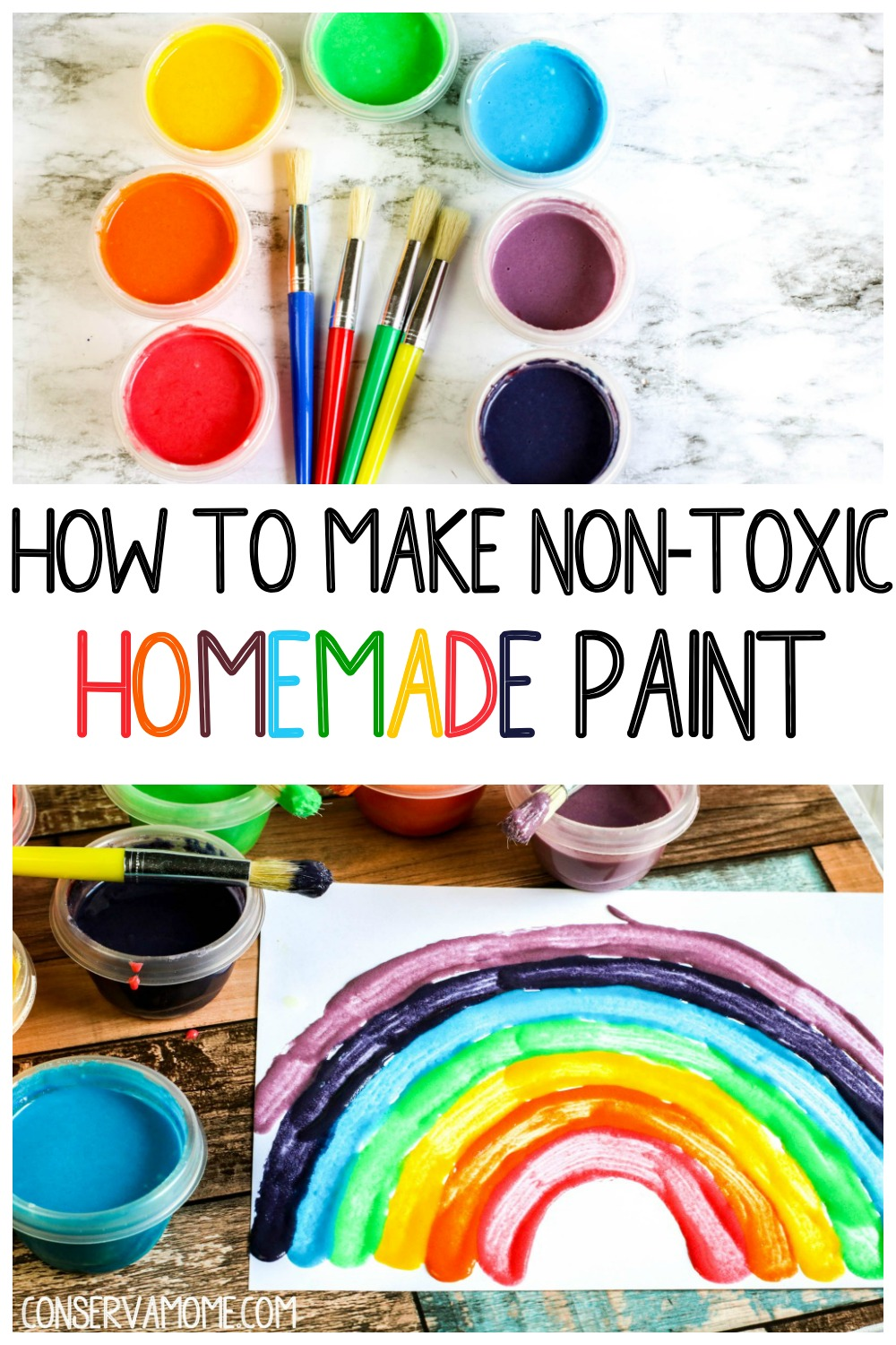 How to make non-toxic homemade paint