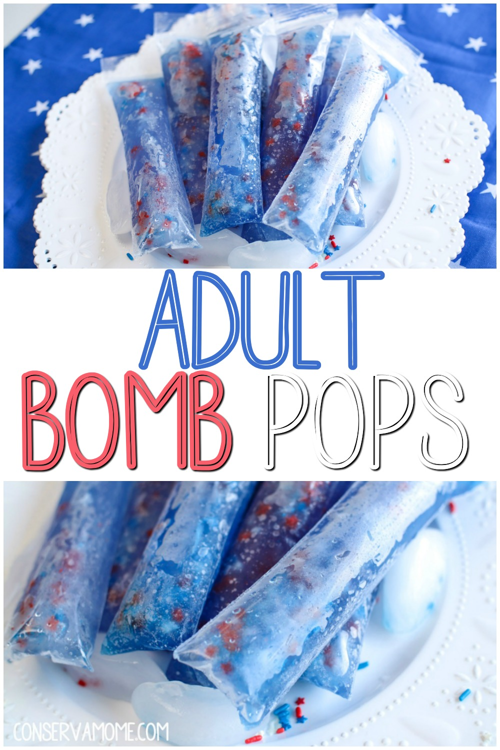 Adult Bomb Pops :An Easy Spiked Freezer pops recipe