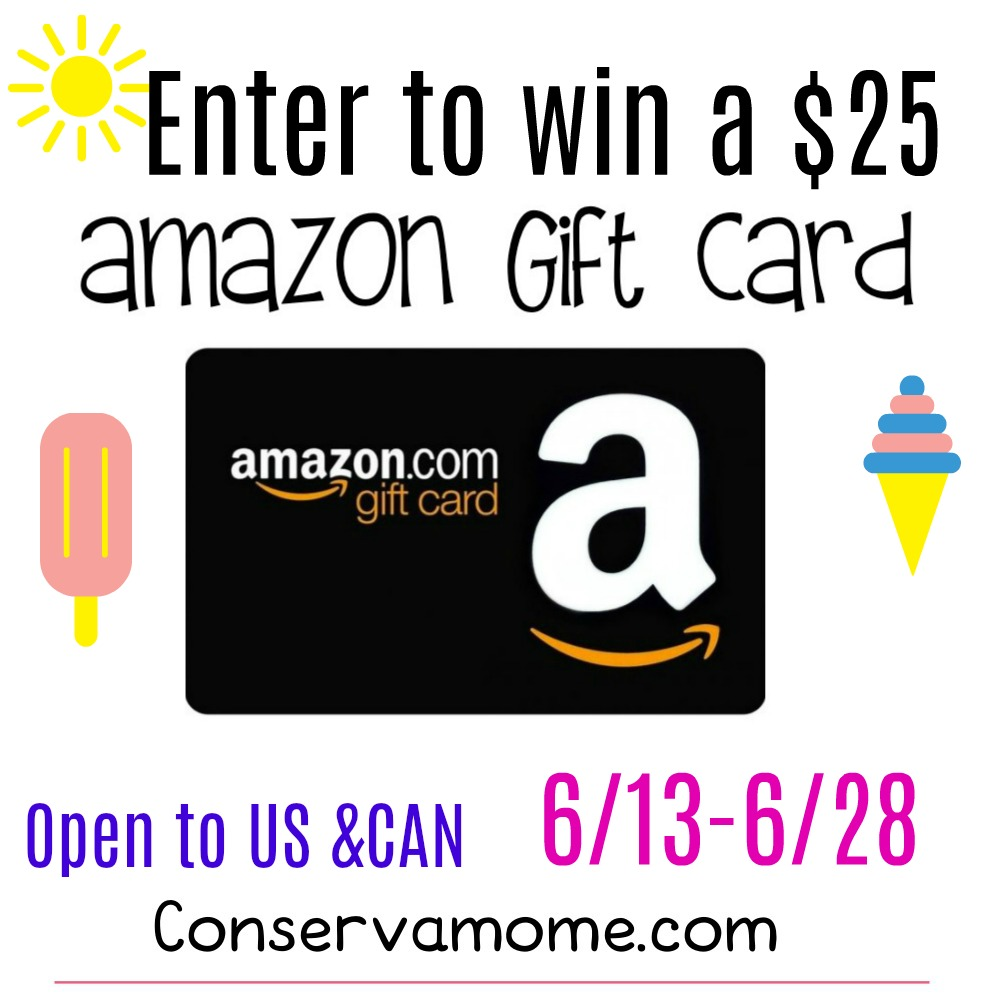 Enter to win a $25 Amazon Gift Card open to US & CAN
