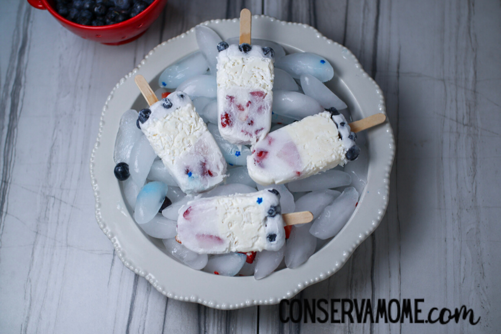 Patriotic Popsicles - Delicious Star-Spangled Creamsicles