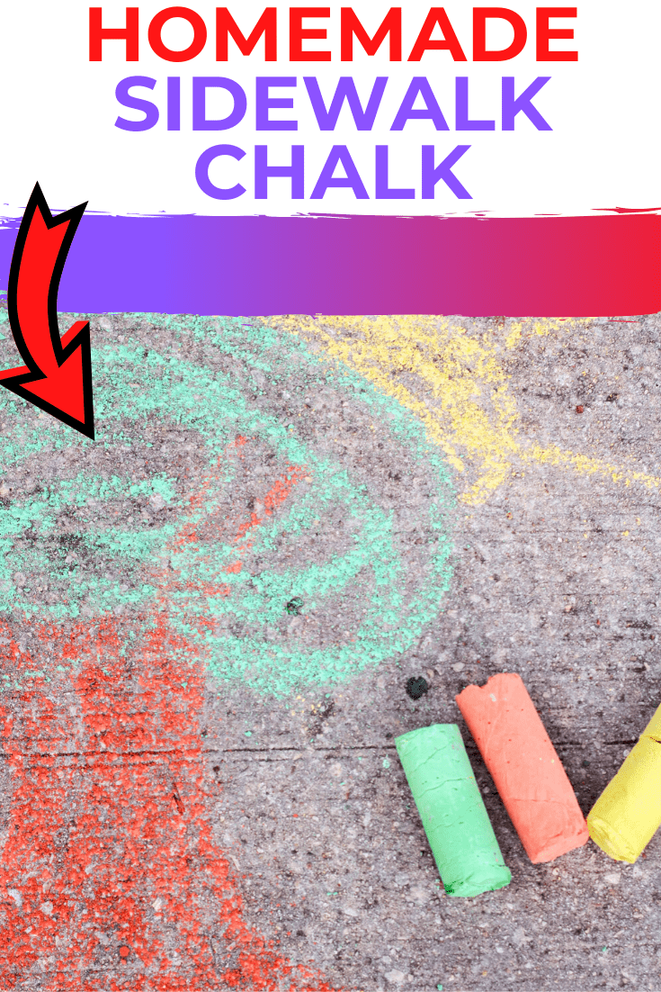 How to make Homemade Sidewalk Chalk - A DIY Sidewalk Chalk Recipe