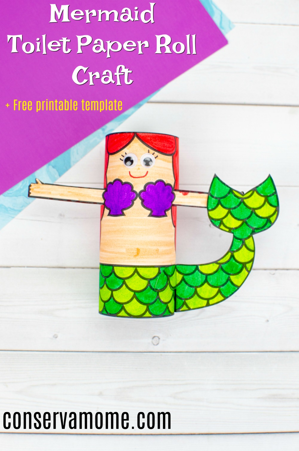 mermaid toilet paper roll craft