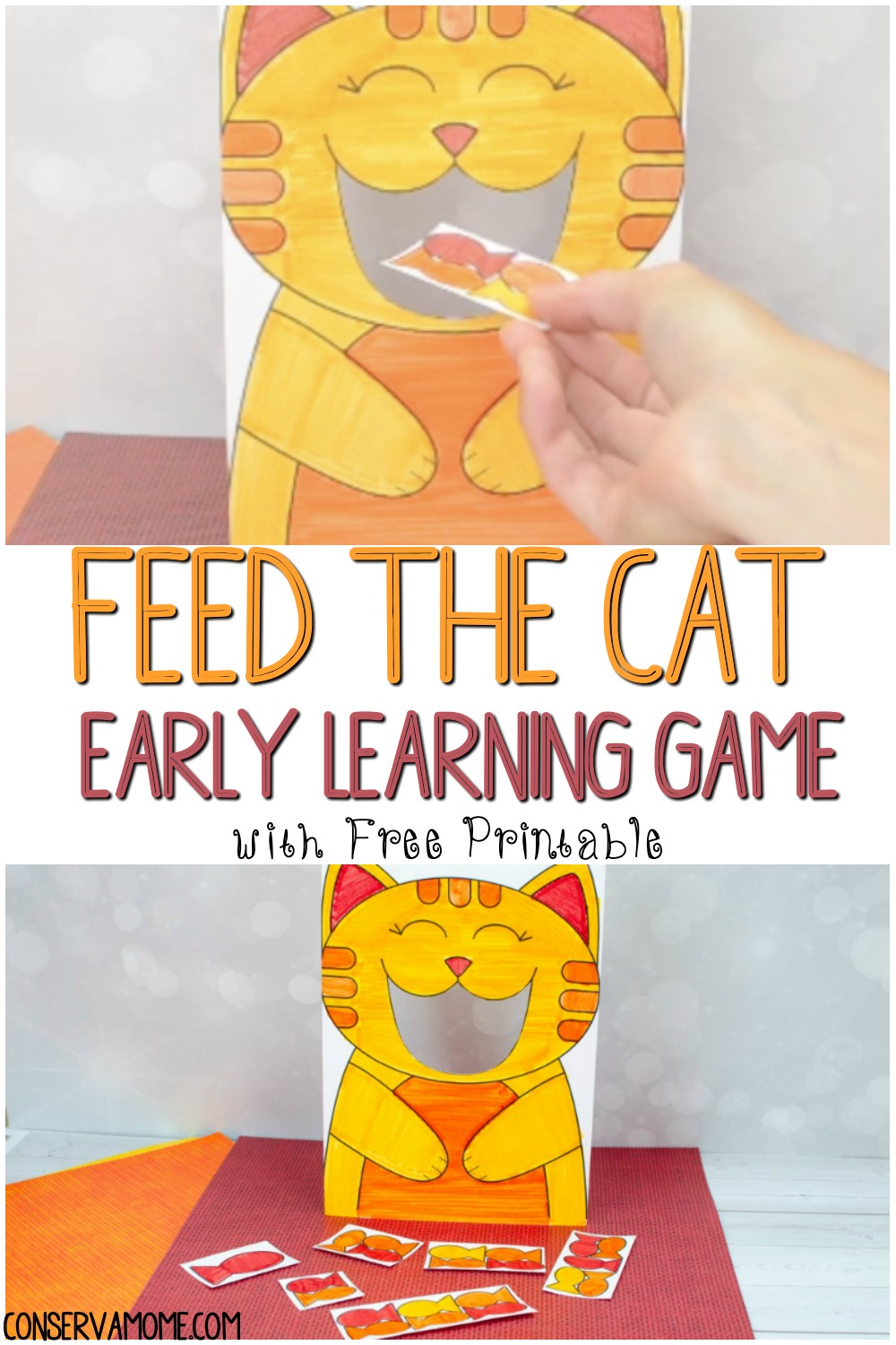 Feed the cat early learning game
