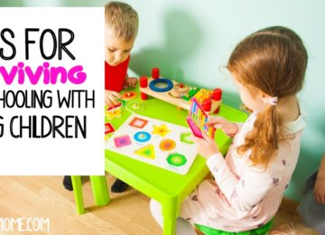 Tips for Surviving Homeschooling with young children