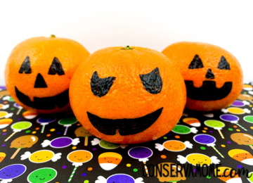 Pumpkin Oranges - An Easy Fall Decoration for Kids