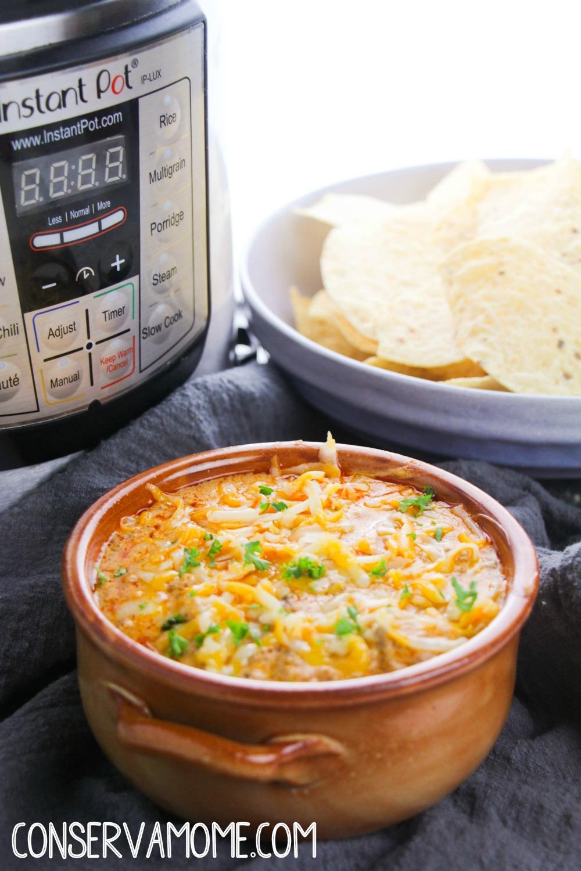 instant pot beef enchilada dip