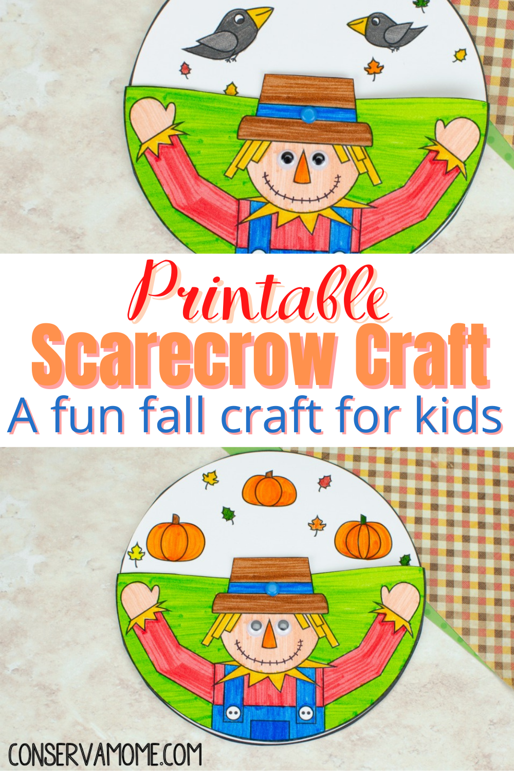 Printable Scarecrow Craft- A fun fall craft for kids