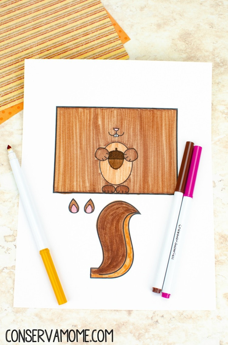 Squirrel Toilet Paper Roll craft