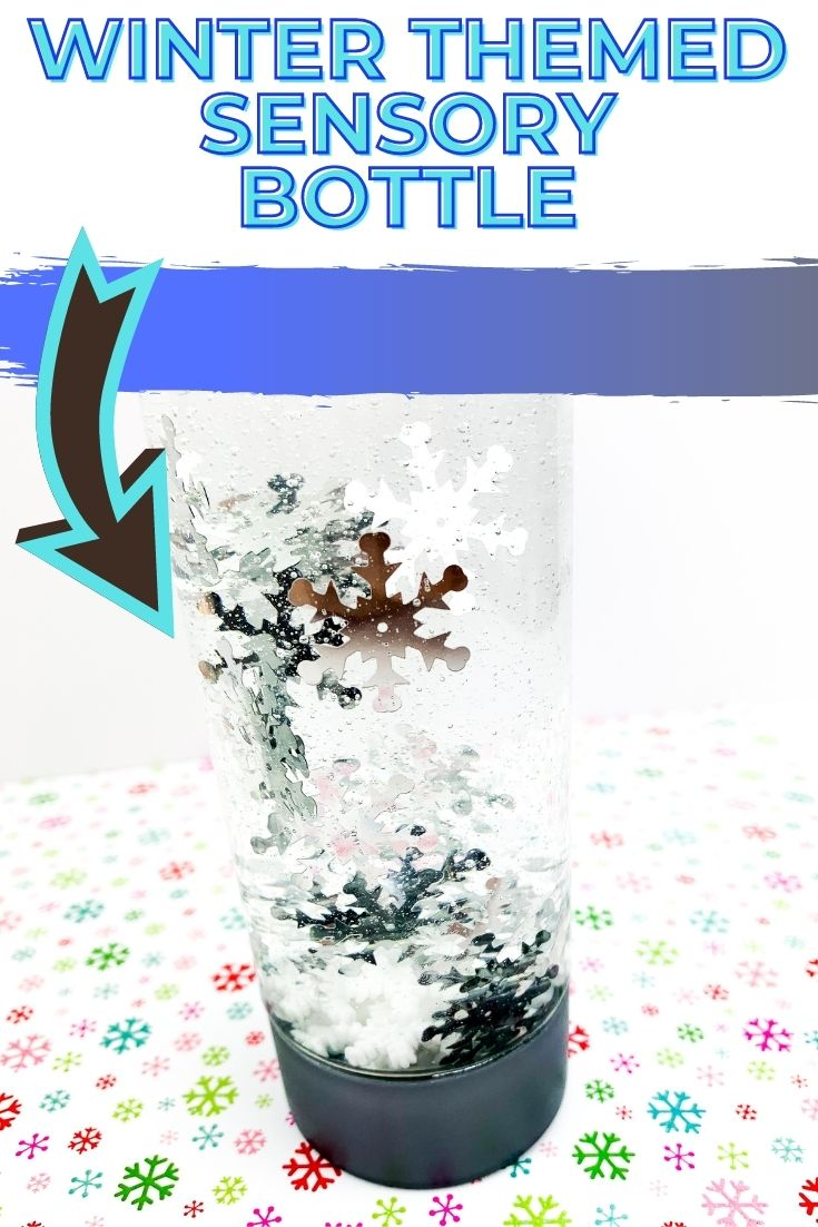 Winter Snowflake Sensory Bottle : Winter Themed Sensory Bottle