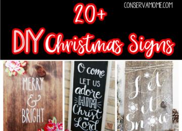20+ DIY Christmas Signs
