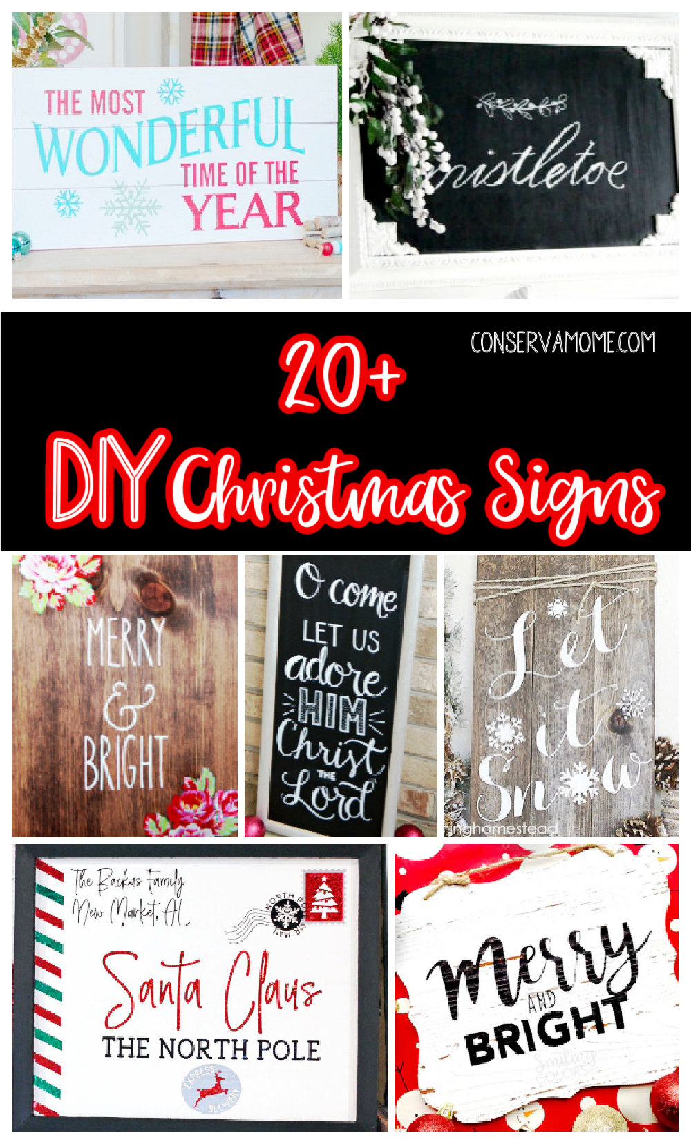 20+ DIY Christmas Signs perfect for Christmas Cheer!