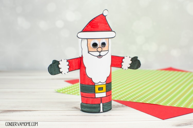 Toilet Paper Roll Santa Claus Craft:An Easy Kids Christmas Craft