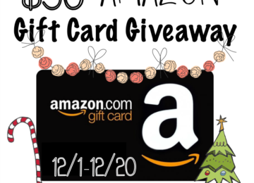 Enter to win a $50 Amazon Gift card