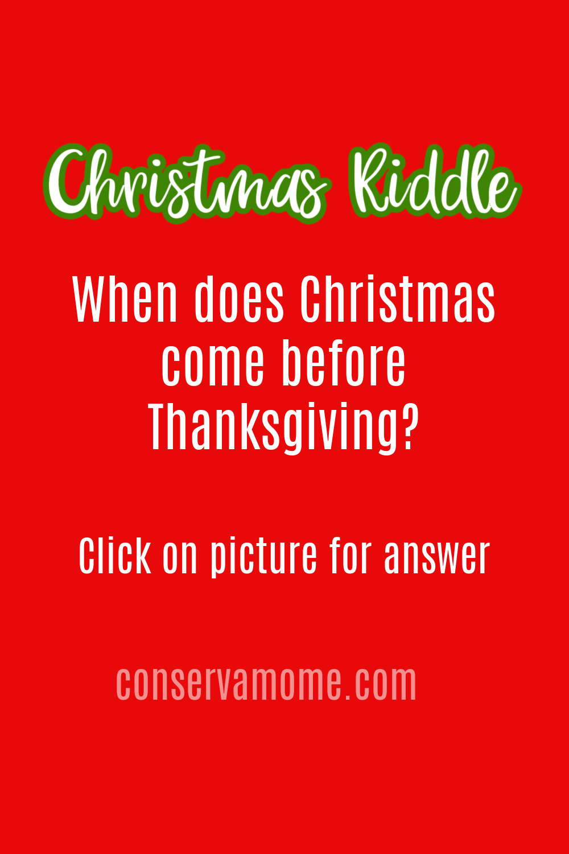 Christmas Riddle