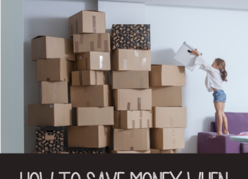 How To Save Money When Moving With Children