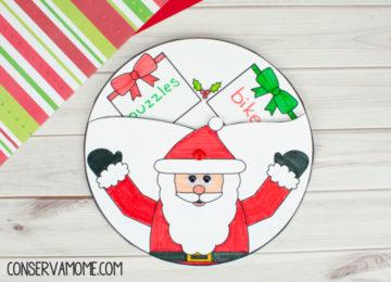 Santa Gift List Spinner