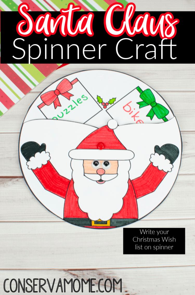 Santa Claus Spinner Craft