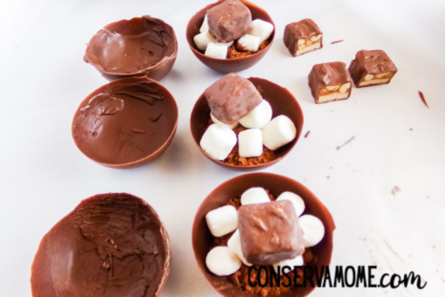 Snickers Hot Chocolate Bomb