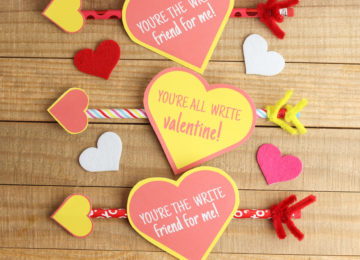Pencil Valentines - A Perfect Non edible Valentine Treats