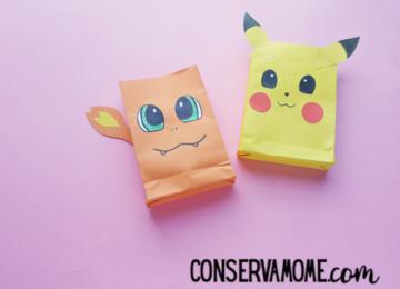Pokemon Paper Bags : A Fun Pokemon Craft for Kids
