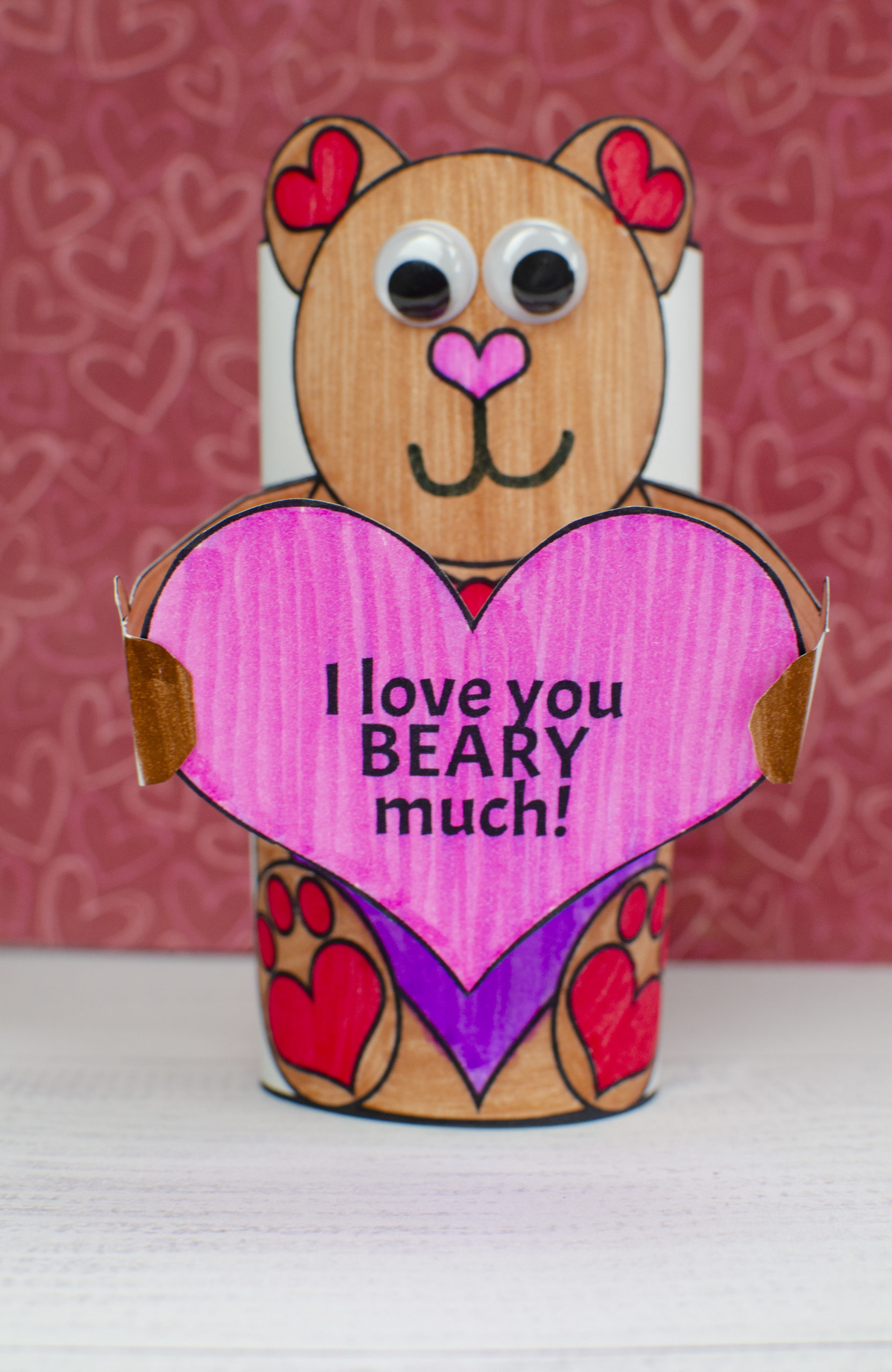 Valentine's Day Toilet Paper roll Craft