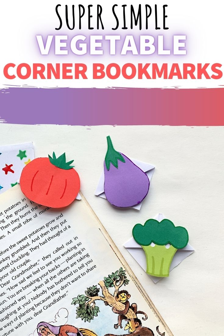 corner vegetable bookmark