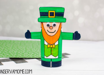 Leprechaun Toilet paper roll craft:A St.Patrick's Day Craft for kids