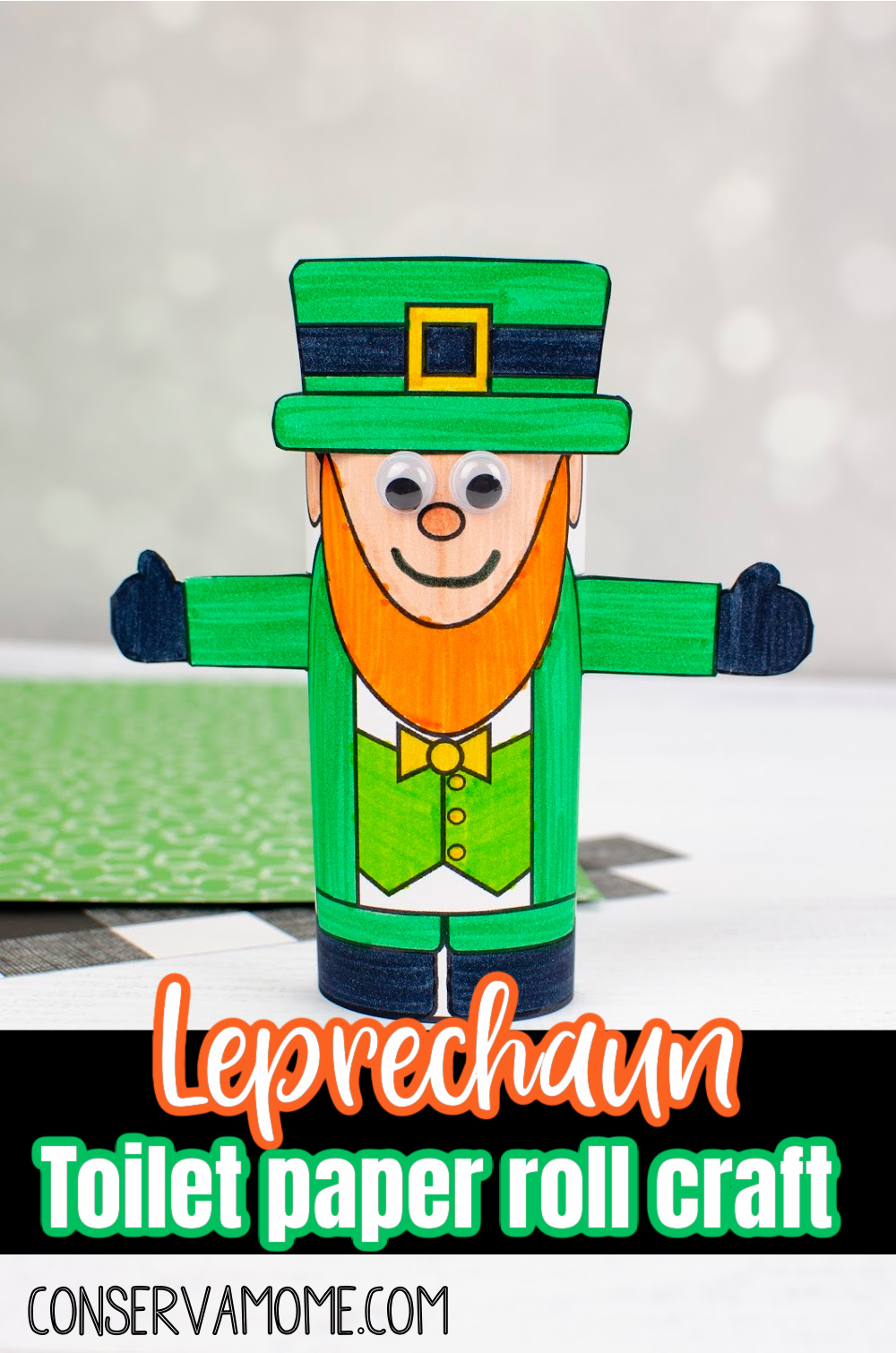 Leprechaun Toilet paper roll craft: A St.Patrick's Day Craft for kids