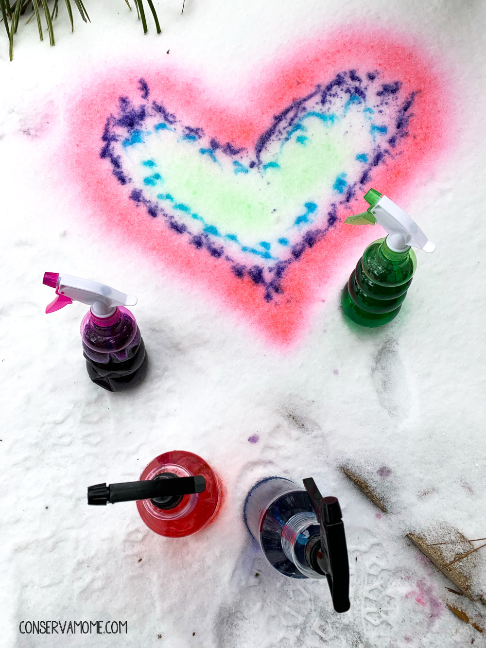 How to make Snow spray paint