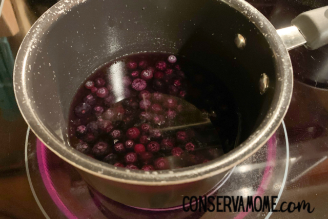 boiling blueberries for dyeing easter eggs