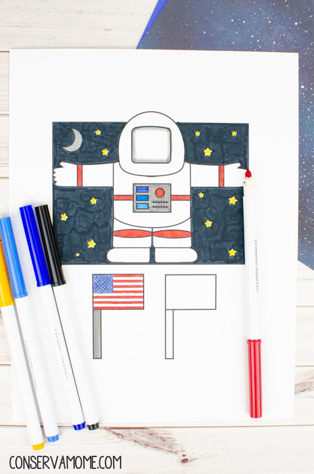Astronaut Toilet paper roll craft