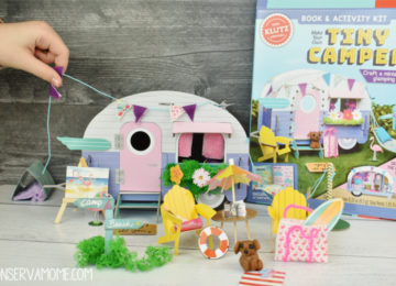 Hands on learning fun with Scholastic Klutz Make Your Own Tiny Camper