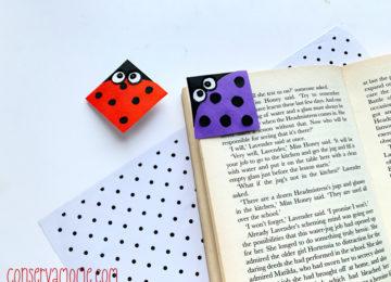 How to make ladybug book marks