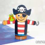 Pirate Toilet Paper roll craft: A Fun Pirate themed craft for kids