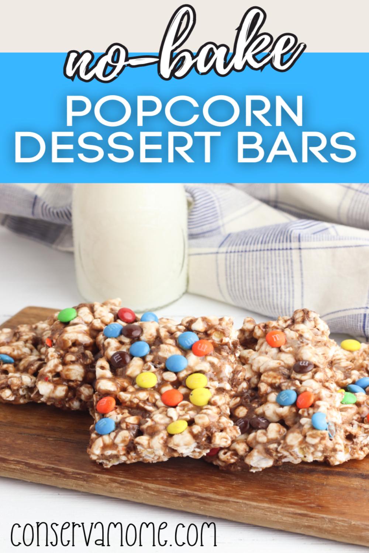 No Bake Popcorn Bars