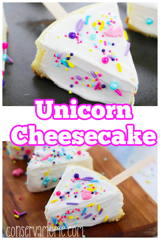 Unicorn Cheesecake : A fun Unicorn themed Party Dessert Idea