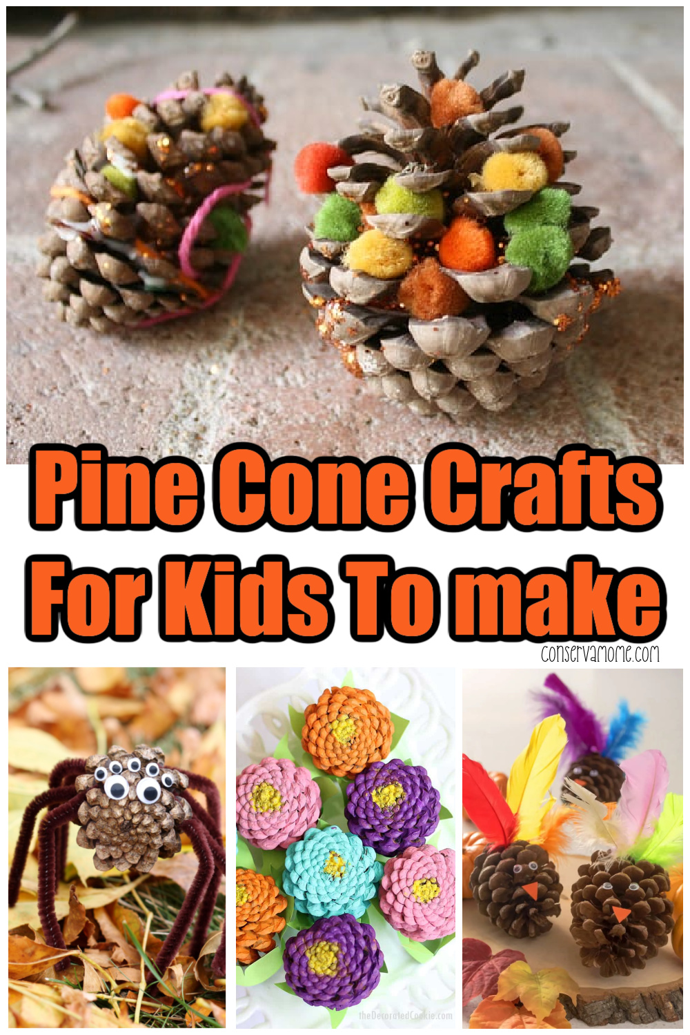 Pine Cone Crafts For Kids To make